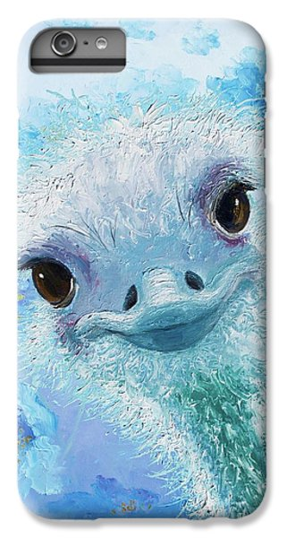 Curious Ostrich IPhone 6 Plus Case by Jan Matson