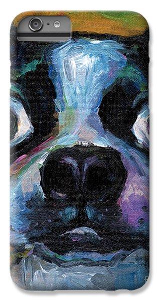 Cute Boston Terrier Puppy Art IPhone 6 Plus Case by Svetlana Novikova