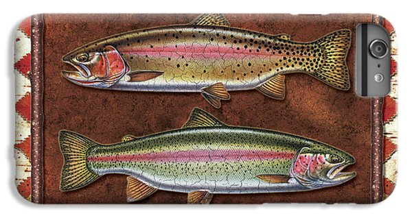 Cutthroat And Rainbow Trout Lodge IPhone 6 Plus Case by JQ Licensing