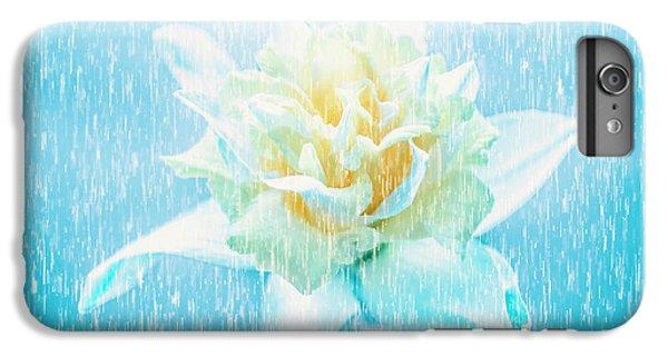 Daffodil Flower In Rain. Digital Art IPhone 6 Plus Case