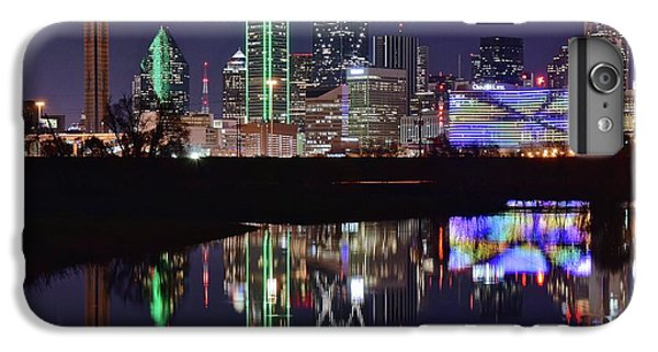 Dallas Reflecting At Night IPhone 6 Plus Case by Frozen in Time Fine Art Photography