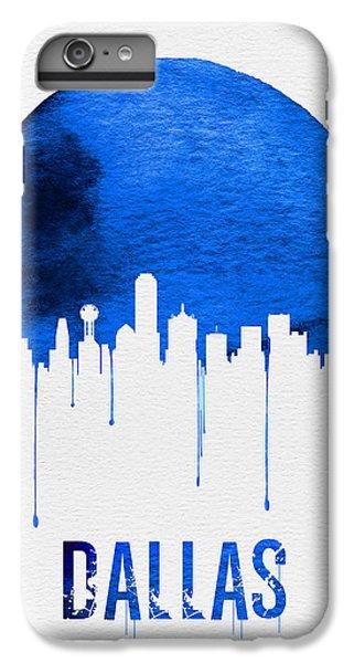 Dallas Skyline Blue IPhone 6 Plus Case by Naxart Studio