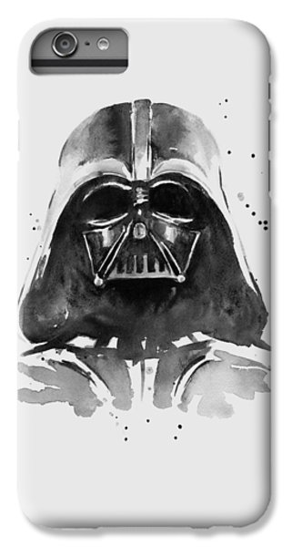 Darth Vader Watercolor IPhone 6 Plus Case by Olga Shvartsur
