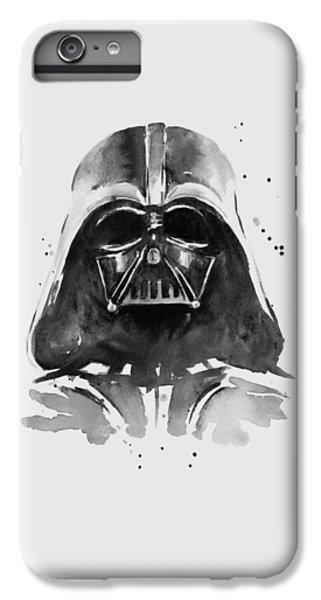 Portraits iPhone 6 Plus Case - Darth Vader Watercolor by Olga Shvartsur