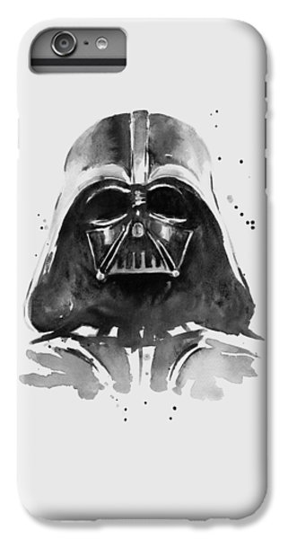 American Landmarks iPhone 6 Plus Case - Darth Vader Watercolor by Olga Shvartsur