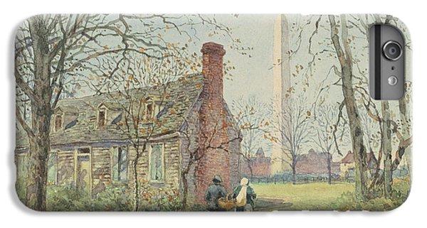 Washington Monument iPhone 6 Plus Case - David Burns's Cottage And The Washington Monument, Washington Dc, 1892  by Walter Paris