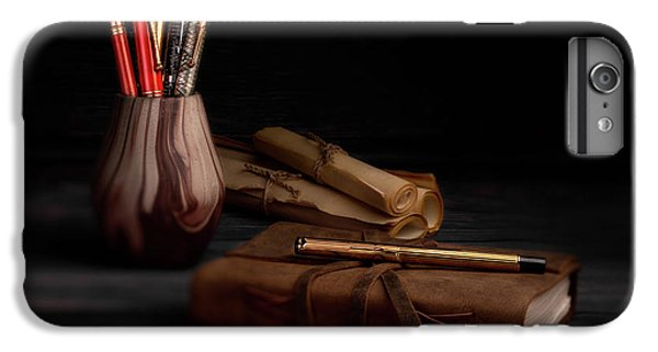 Swan iPhone 6 Plus Case - Dear Diary by Tom Mc Nemar