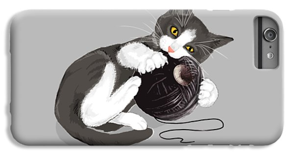 Cats iPhone 6 Plus Case - Death Star Kitty by Olga Shvartsur