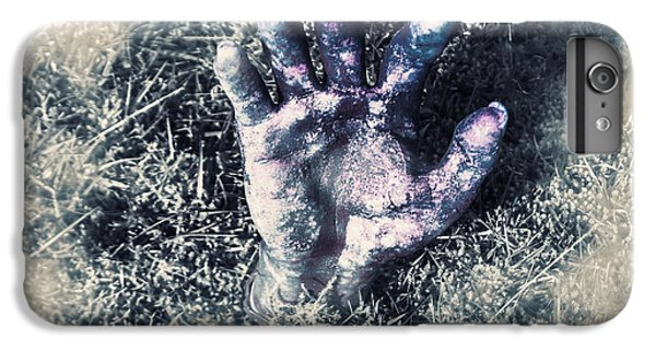 London Tube iPhone 6 Plus Case - Decaying Zombie Hand Emerging From Ground by Jorgo Photography - Wall Art Gallery