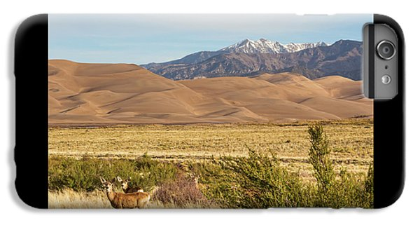 IPhone 6 Plus Case featuring the photograph Deer And The Colorado Sand Dunes by James BO Insogna