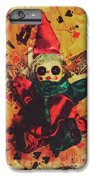 Magician iPhone 6 Plus Case - Demonic Possessed Joker Doll by Jorgo Photography - Wall Art Gallery