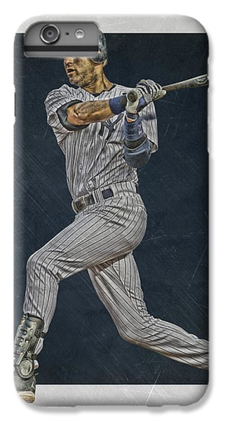 Derek Jeter New York Yankees Art 2 IPhone 6 Plus Case by Joe Hamilton