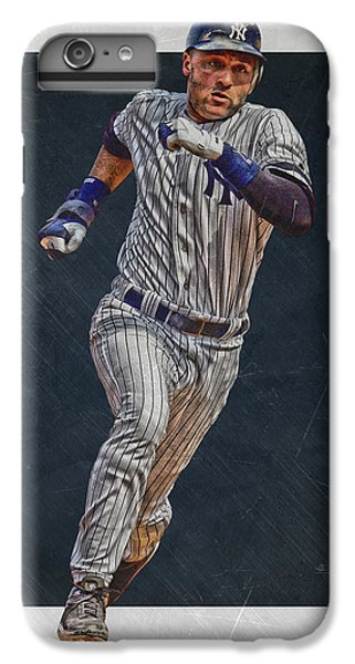 Derek Jeter New York Yankees Art 3 IPhone 6 Plus Case by Joe Hamilton