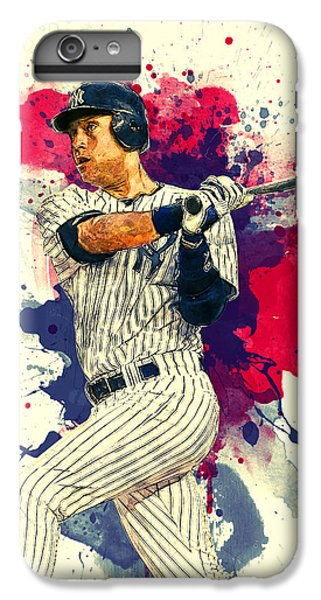 Derek Jeter IPhone 6 Plus Case by Taylan Apukovska
