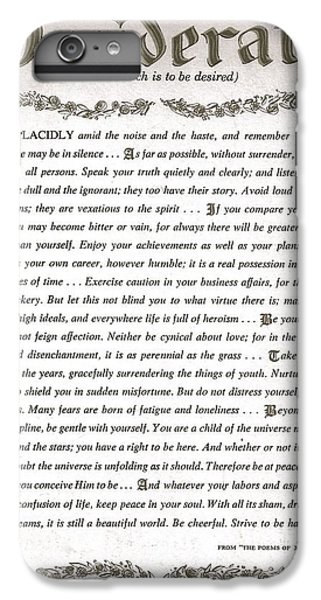Desiderata 3 IPhone 6 Plus Case