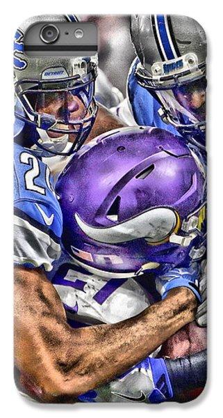 Lion iPhone 6 Plus Case - Detroit Lions Team Art by Joe Hamilton
