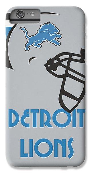Lion iPhone 6 Plus Case - Detroit Lions Team Vintage Art by Joe Hamilton