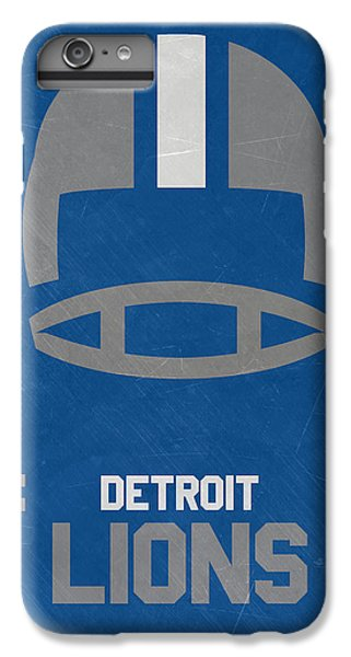 Lion iPhone 6 Plus Case - Detroit Lions Vintage Art by Joe Hamilton