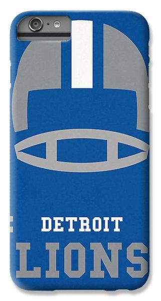 Lion iPhone 6 Plus Case - Detroit Lions Vintage Nfl Art by Joe Hamilton