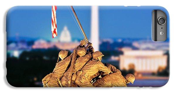 Digital Composite, Iwo Jima Memorial IPhone 6 Plus Case by Panoramic Images