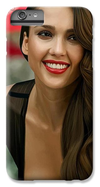 Digital Painting Of Jessica Alba IPhone 6 Plus Case by Frohlich Regian