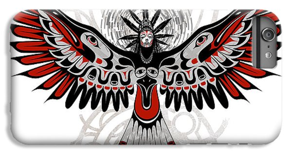 Raven iPhone 6 Plus Case - Divine Crow Woman by Sassan Filsoof