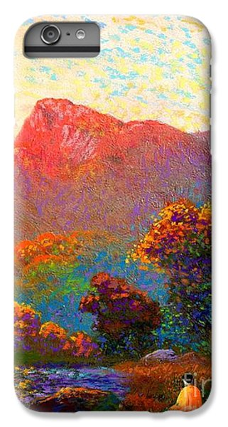 Figurative iPhone 6 Plus Case -  Buddha Meditation, Divine Light by Jane Small
