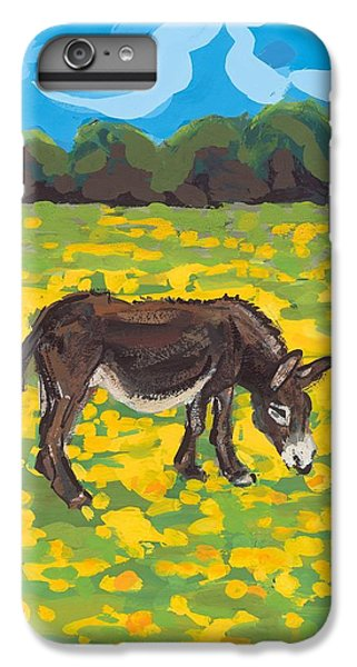 Donkey And Buttercup Field IPhone 6 Plus Case by Sarah Gillard