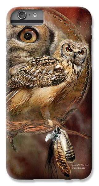 Owl iPhone 6 Plus Case - Dream Catcher - Spirit Of The Owl by Carol Cavalaris