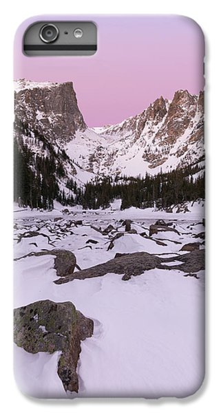 IPhone 6 Plus Case featuring the photograph Dream Lake Winter Vertical by Aaron Spong