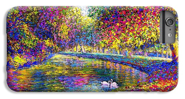 Drifting Beauties, Swans, Colorful Modern Impressionism IPhone 6 Plus Case