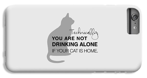 Cat iPhone 6 Plus Case - Drinking With Cats by Nancy Ingersoll