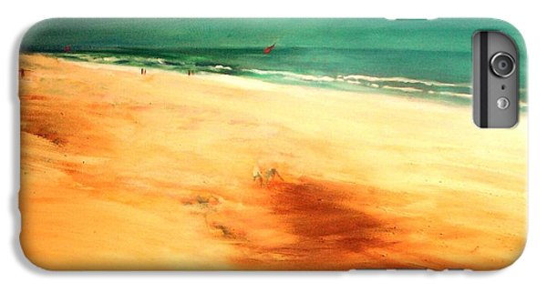IPhone 6 Plus Case featuring the painting Dune Shadows by Winsome Gunning