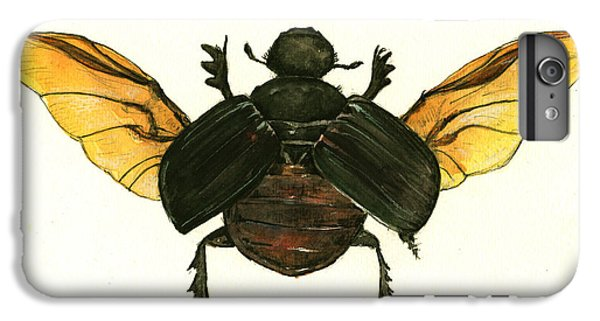 Dung Beetle IPhone 6 Plus Case by Juan Bosco