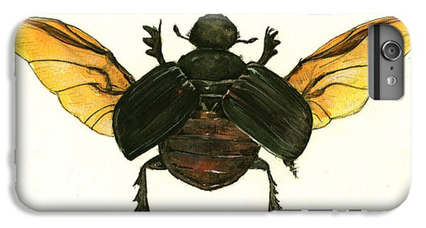 Dung Beetle IPhone 6 Plus Case by Juan Bosco