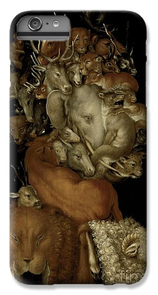 Lion Head iPhone 6 Plus Case - Earth by Giuseppe Arcimboldo
