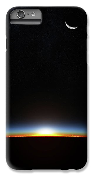 Planets iPhone 6 Plus Case - Earth Sunrise Through Atmoshere by Johan Swanepoel