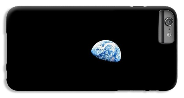 Astronauts iPhone 6 Plus Case - Earthrise Over Moon, Apollo 8 by Nasa