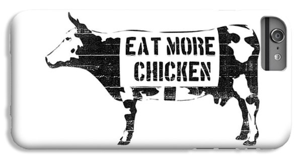 Cow iPhone 6 Plus Case - Eat More Chicken by Pixel  Chimp