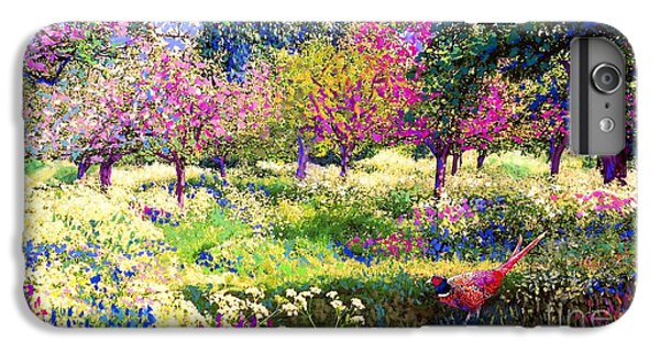 Pheasant iPhone 6 Plus Case - Echoes From Heaven, Spring Orchard Blossom And Pheasant by Jane Small