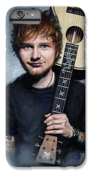 Folk Art iPhone 6 Plus Case - Ed Sheeran by Andre Koekemoer