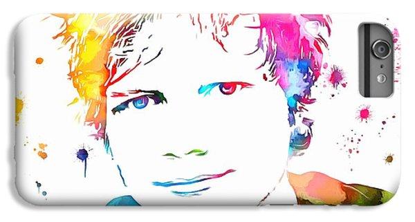 Ed Sheeran Paint Splatter IPhone 6 Plus Case by Dan Sproul