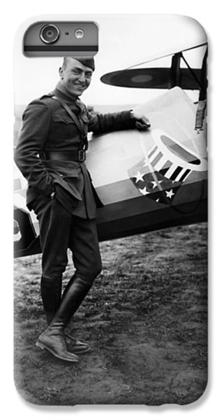 Airplane iPhone 6 Plus Case - Eddie Rickenbacker - Ww1 American Air Ace by War Is Hell Store