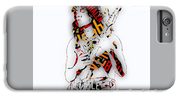 Eddie Van Halen Everybody Want's Some Lyrics IPhone 6 Plus Case by Marvin Blaine