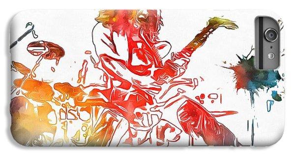 Eddie Van Halen Paint Splatter IPhone 6 Plus Case by Dan Sproul