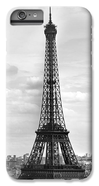 Eiffel Tower Black And White IPhone 6 Plus Case by Melanie Viola