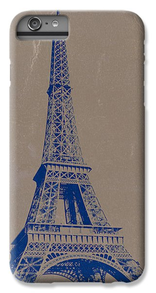 Eiffel Tower Blue IPhone 6 Plus Case by Naxart Studio