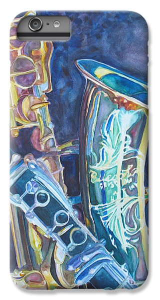Saxophone iPhone 6 Plus Case - Electric Reeds by Jenny Armitage