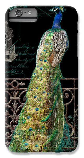 Elegant Peacock Iron Fence W Vintage Scrolls 4 IPhone 6 Plus Case