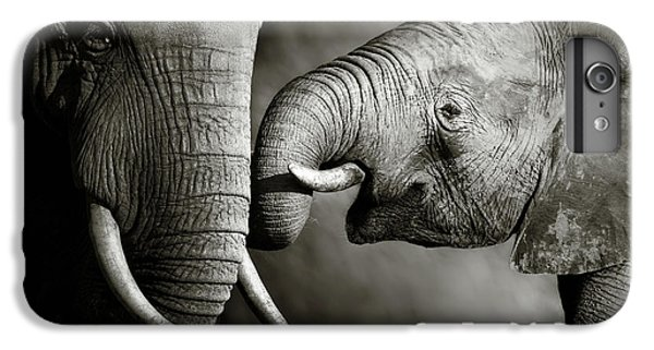 Wildlife iPhone 6 Plus Case - Elephant Affection by Johan Swanepoel